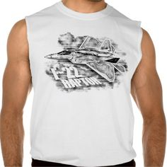F-22 RAPTOR NULL SLEEVELESS TEES Tank Tops