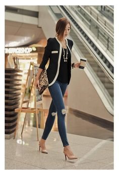 - Product Type: Jackets - Style : Formal - Collar: V-Neck - Gender: Women - Material: Cotton Blend - Closure Type: Hook and Eye - Sleeve Length: Long Sleeve - Clothing Length: Regular - Item Code: BK2