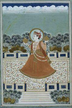 Kumbha Ragini.  Location: Jaipur, Jaipur District, Rajasthan, India. Date: ca 1900 CE
