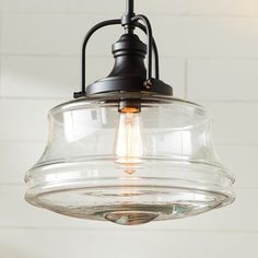 Nadine 1-Light Schoolhouse Farmhouse Pendant | Farmhouse Touches