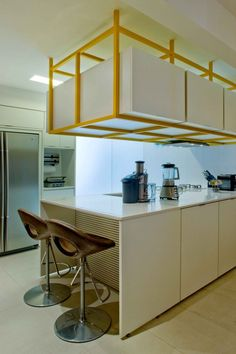 Energetic White and Yellow Interior Design Scheme