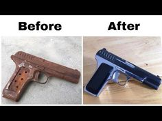 This time i have restored super rusty tokarev tt 33 gun restoration, this pistol was very rusty and deadlock and was not easy to restore but i did hard work . Anderson Arms, How To Remove Rust, Black Oxide, Hand Guns, Sword, Weapons, Youtube, Projects, Firearms