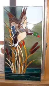 Flying Geese Stained Glass Panel Tiffany by PinwheelStainedGlass ...