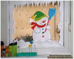 Winter window decoration