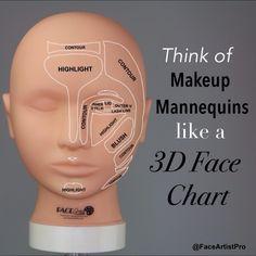 Makeup Mannequin = 3D Face Chart Purchase yours at www.FaceArtistPro.com Makeup Art