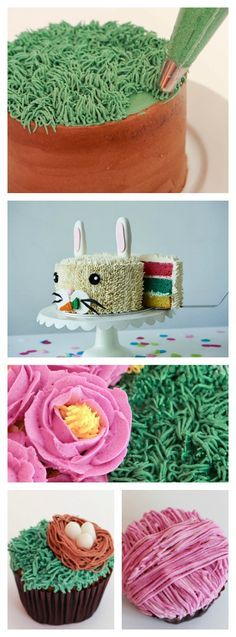 Here are 10 creative ways to use the Wilton decorating tip 233, also known as the grass piping tip, for Cake Decorating from craftsy.com!
