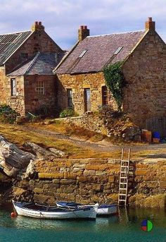 Celtic:  Stone house on the water, #Scotland.