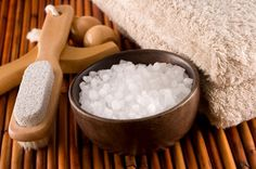 Gorgeously Green Salt Rub. 2 cups fine sea salt, 4 cups apricot or almond oil, 20 drops of your favorite essential oil (mixing lavender, geranium and orange is always nice). Simply combine all the ingredients in a glass jar and stir or shake to blend. Get in the shower, wet your skin and then scoop out a handful of the scrub. Apply to your skin, and rub and scrub from your neck to your toes.