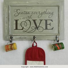 Season Everything With Love Kitchen Wall Decor by 4UGIFTSONLINE
