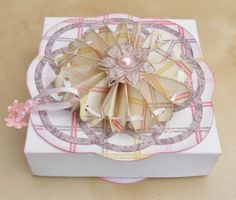 Handmade box and topper designed by me on Cameo.  This box was for a piece of handmade jewellery (see other pins)