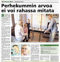Mannerheimin Lastensuojeluliiton Uudenmaan piiri kampanjoi uusien perhekummien löytämiseksi. Juttu Järvenpää Newsissa 23.10.2013. www.olettarkea.fi