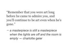 Art quote.. Self quote..