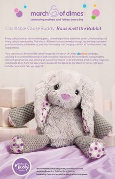 Our newest #Scentsy buddy and for a great cause #MarchOfDimes!  www.enjoysmartscents.com