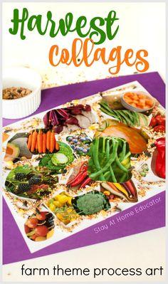 Preschool Healthy Food Activities that Incorporate Process Art