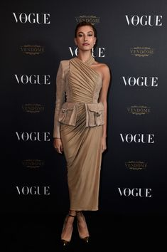 Hailey Baldwin attends the Vogue 95th Anniversary Party on October 3, 2015 in Paris, France.