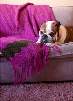Manta de crochet Ripple Blanket