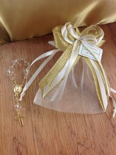 12 pcs Baptism favor bags christening favor bags by AVAandCOMPANY, $20.99