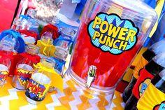 Superhero Party - Superhero PUNCH SIGNS - Superhero Birthday - Comic Party - Superhero