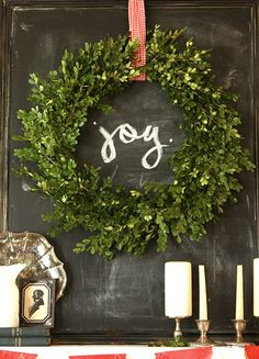 Why Not?: Hang A Holiday Wreath Indoors | Live The Life You Dream AboutLive The Life You Dream About
