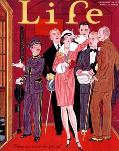 Life February 10, 1927 by John Held, Jr. Buy the best Vintage Outfits Ideas, click here: outfit-ideas.com . #vintage #life