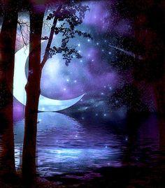 "✩҉‿⋆⁀☆҉    ""My Starry Night"" by Starla Grey ~ Digital Art on Koinup. ✩҉‿⋆⁀☆҉"