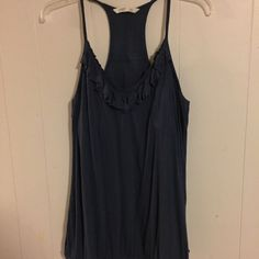 Old Navy Tank Top Old Navy tank top w/shelf bra. Elastic along bottom. Navy blue in color. Super comfy! Great Condition. Old Navy Tops Tank Tops