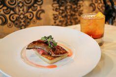 *Pan Seared Foie Gras fig & cherry compote, pain perdu, & port gastrique