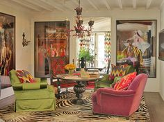 "martyn lawrence bullard - beyond amazing!  the textiles and chandelier make for a ""million dollar"" space...  ~mkw"