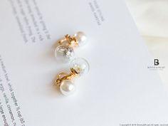 Bonny & Read 平價飾品 - 澄靜花氛夾式耳環  NT.138