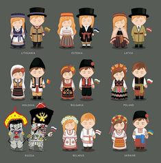 Find People National Dress Latvia Lithuania Estonia stock images in HD and millions of other royalty-free stock photos, illustrations and vectors in the Shutterstock collection. Country Costumes, European People, International Craft, Popular Costumes, Low Poly Games, Diy Crafts For Girls, Russia Ukraine, Thinking Day, Vintage Paper Dolls