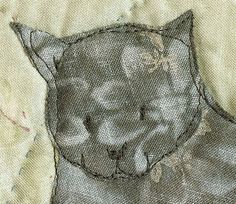 Applique cat from my new quilt pattern