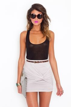 Mini Skirts & Skinny Belts. - i personally love the skirt