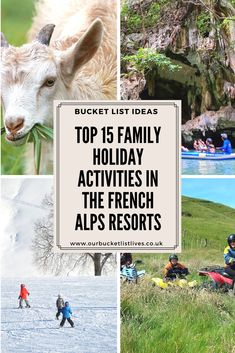 Top 15 family holiday activities in the French Alps resorts. From the sedate to the full on adventurous. Find out 15 things you must do on your vacation to the Alps #alps #france #skiing #family #familyfriendly #travel #familytravel