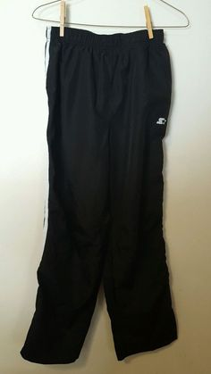Boys Black Starter Warm Up Track Pants Size 2XL 18 #442 in Clothing, Shoes & Accessories, Kids' Clothing, Shoes & Accs, Boys' Clothing (Sizes 4 & Up) | eBay