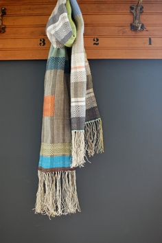Duck-Duck-Goose handwoven hemp and linen scarf