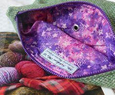 Harris Tweed Knitting Bag by TheFabulousMrG on Etsy, $65.00