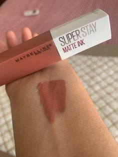 The perfect NUDE lipstick of the moment😍❤️ Maybelline Superstay, Maybelline Lipstick, Makeup Kit, Skin Makeup, Beauty Makeup, Drugstore Makeup Dupes, Makeup Swatches, Lipstick Swatches, Lipstick Shades