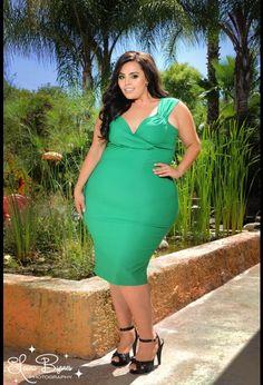 Erin Dress in Lucky Green - Plus Size
