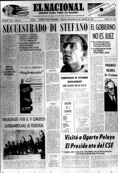 Secuestrado el futbolista Alfredo Di Stefano. Publicado el 25 de agosto de 1963.
