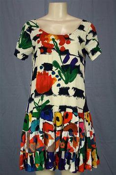 Cute & relaxed style! Jams World Surreal Dress Hattie Babydoll Ruffles Artsy Sz M | eBay