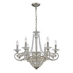 La Flor 9 Light Chandelier In Sunset Silver 11366/6+3