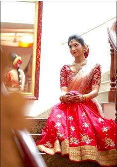 Half saree by mrunalini rao