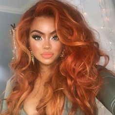 Orange Wigs Yellow Wigs Lace Frontal 26 Hair Extensions Brazilian Curly Hair Bundles Least Damaging Hair Extensions For Fine Hair Body Wave Bundles Hair Color Auburn, Auburn Hair, Red Hair Color, Hair Colors, Long Curly Hair, Big Hair, Curly Hair Styles, Natural Hair Styles, Curly Afro
