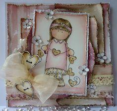 Jane's Lovely Cards: Lovely hAnglar Only Challenge GDT - Glitter