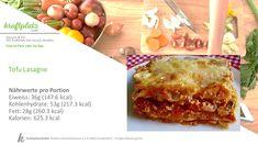 Weider einmal ein Rezept für die Vegetarier unter uns, natürlich auch geeignet als Abwechslung für die Fleischesser ;) Tofu, Ethnic Recipes, Lasagna, Vegetarian, Food Portions, Recipies