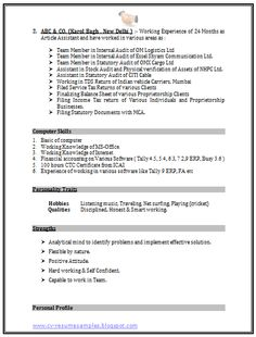 mba information technology resume format page 2 career