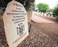 Southern Arizona Veterans Memorial Cemetery,Sierra Vista AR.Dedicated in 2009 after soldiers remains were found at a construction site.Thanks to the SCV and the compassionate citizens of this town.