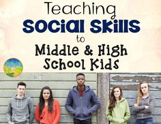 Social Skills for Middle and High School Kids Simple strategies and tips for social skills instruction for teens at the middle and high school level. The post Social Skills for Middle and High School Kids appeared first on School Ideas. Social Skills Lessons, Social Skills Activities, Teaching Social Skills, Counseling Activities, Social Emotional Learning, Life Skills, Counseling Quotes, Learning Activities, Study Skills