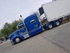 BIG BLUE Big Rig Trucks, Semi Trucks, Old Trucks, Peterbilt 386, Peterbilt Trucks, Custom Big Rigs, Custom Trucks, Lowrider Trucks, Toyota