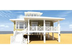 Florida  Coastal homes and Home plans on PinterestePlans Low Country House Plan   Classic Beach Bungalow   Square Feet and Bedrooms